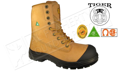 Tiger Safety Boot Titanium Toe-cap, Rubber Outsole, Waterproof