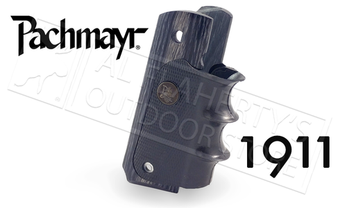 Pachmayr 1911 American Legend Laminate Charcoal Silvertone Grips #00433
