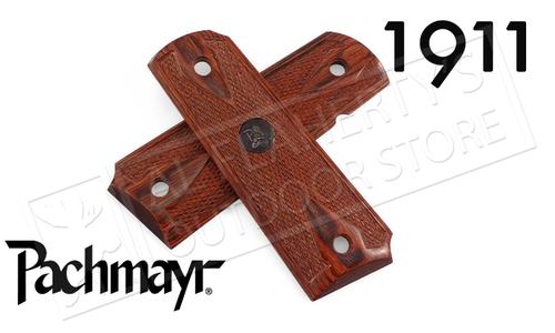 Pachmayr 1911 Custom Laminate Double Diamond Rosewood Grips #00440