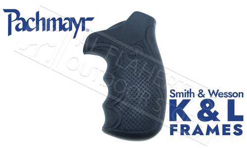 Pachmayr Diamond Pro Series Revolver Grips for Smith & Wesson K & L Round Butt Frames #02479