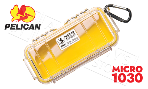 Pelican 1030 Micro Case, Clear w/Yellow Liner