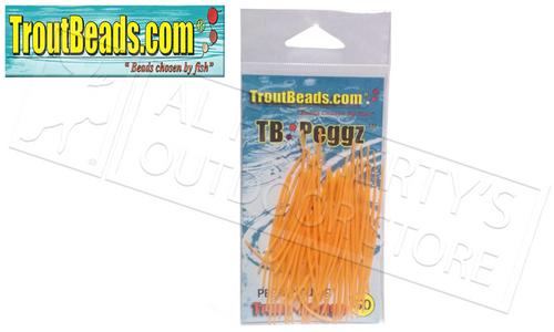 TroutBeads TB Peggz, Orange, Pack of 50 #TBPG-OR