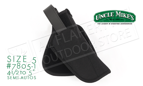 "Uncle Mike's Law Enforcement Paddle Holster for Large Semi-Auto Pistols, 4.5""-5"" Barrels RH #7805-1"