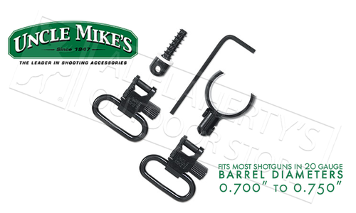"Uncle Mike's Magnum Band Swivel Kit for Single and Over Under Guns, Most 20 Gauge .700""-.750"" Diameter #1597-2"
