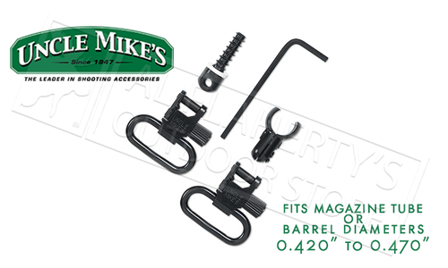 """Uncle Mike's QD Super Swivel Kit with Magnum Band for Magazine Tubes .420""""-.470"""" Diameter #10712"""