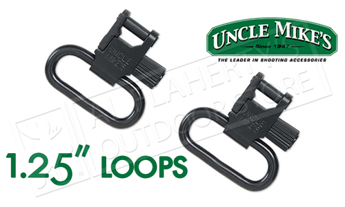 """Uncle Mike's Super Swivels with Tri-Lock, Blued 1-1/4"""" #14033"""