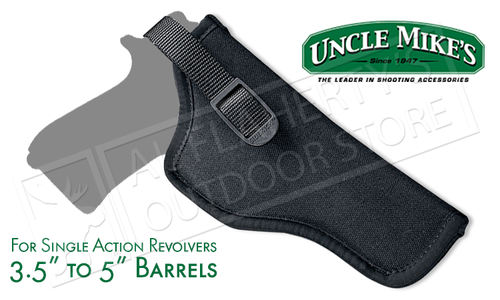 "Uncle Mike's Sidekick Hip Holster, 3-1/2 - 5"" Barrel Revolvers, Nylon RH #8107-1"