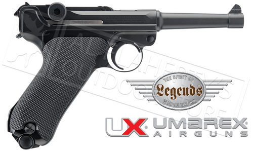 Umarex Air Pistol Legends Luger P.08 .177 BB with Blowback #2251803