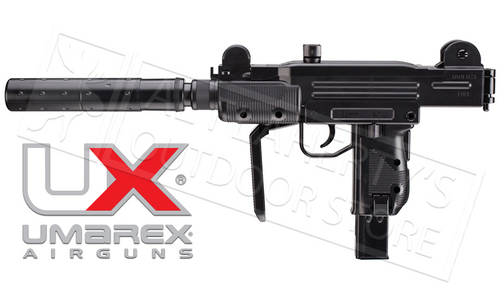 Umarex Air Gun Mini-Uzi with Fake Suppressor, .177 BB #2256103