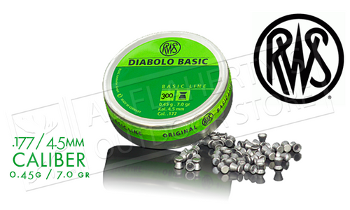 RWS Diablo Basic Airgun Pellets .177 / 4.5mm Caliber Grain Tin of 300 #2317398