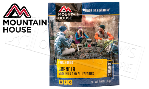 Mountain House Pouch - Granola with Milk and Blueberries, 2 Servings #53449