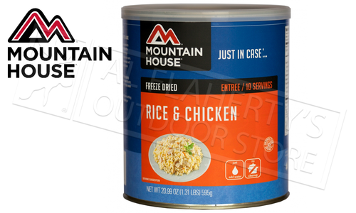 Mountain House Can - Rice and Chicken, 10 Servings, 1.31lbs #30105