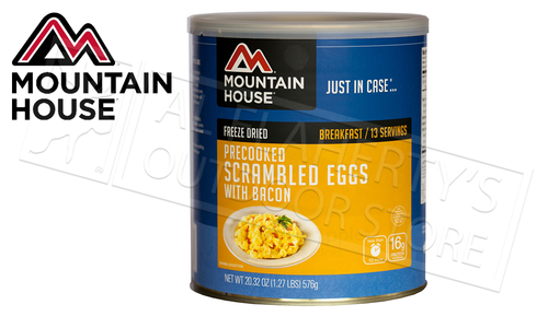 Mountain House Can - Scrambled Eggs with Bacon, 13 Servings, 1.27lbs #30447