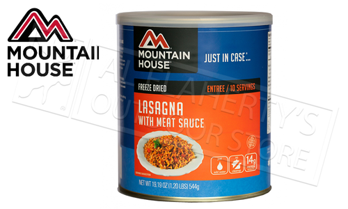 Mountain House Can, Lasagna with Meat Sauce - 10 Servings, 1.20lbs #30127