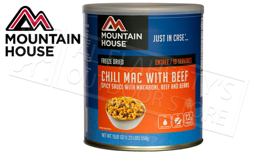Mountain House Can - Chili Mac with Beef, 10 Servings, 1.23lbs #30128