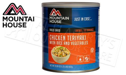 Mountain House Can, Chicken Teriyaki with Rice and Vegetables, 10 Servings, 1.25lbs #30124