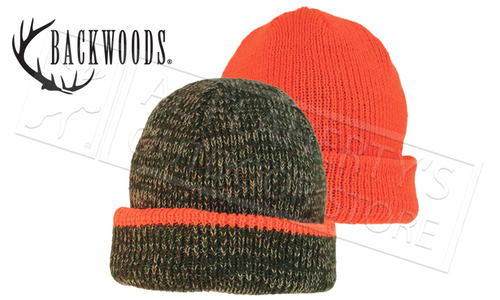 Backwoods Reversible Toque, Blaze Orange & Camo #775R