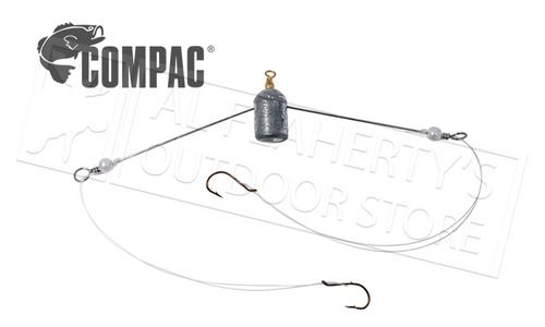 Compac Straight Arm Spreader Jig, 2 Hooks #2SS