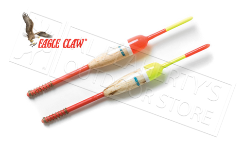 """Eagle Claw Snap-On Float, Pencil 1/2"""" with 6"""" Shaft, Pack of 2 #EC585W"""
