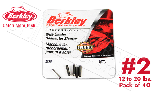 Berkley Connector Sleeves for Leaders, Size 2 Pack of 40 #B2BL