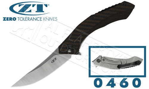Zero Tolerance 0460 Folding Knife with CF and Titanium Handle #0460