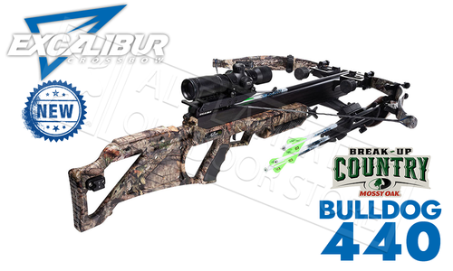Excalibur Matrix Bulldog 440 in MOBUC Camo, TACT100 Scope and Charger EXT #E73583