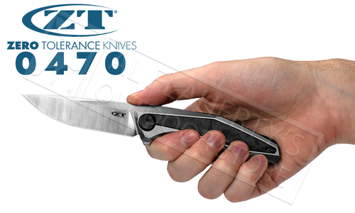 Zero Tolerance 0470 Sinkevich Titanium CF KVT Flipper #0470