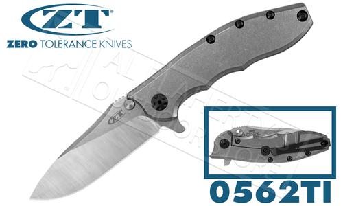 Zero Tolerance 0562TI Rick Hinderer Titanium KVT Flipper #0562TI