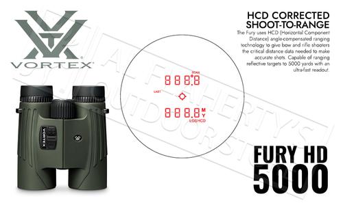 Vortex Fury HD 5000 Range Finder Binoculars, 10x42 Up to 5000 Yards #LRF301