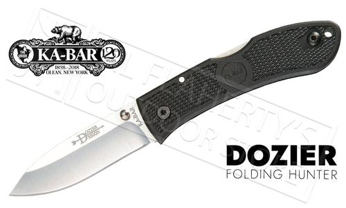 KA-BAR Dozier Folding Hunter, Black #4062