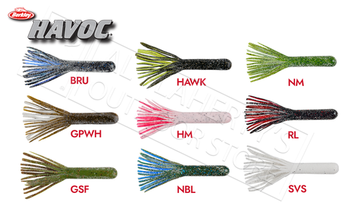 Berkley Havoc Smash Tube, Size 4, Various Colours #HVMST4
