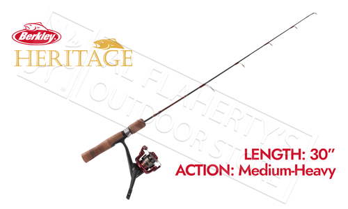"Berkley Heritage Ice Fishing Combo, 30"" Medium-Heavy Action #BHICE30MHCBO"