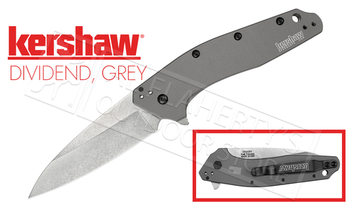 Kershaw DIVIDEND - Gray Aluminum 420HC Speedsafe Fine Edge #1812GRY