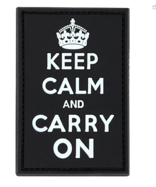 Condor PVC KEEP-CALM, CARRY-ON MORAL PATCH