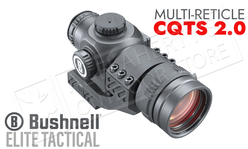 Bushnell Elite Tactical CQTS 2.0 Red Dot Sight - Multi-Reticle with AR Mount #ET71X32