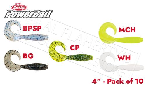 """Berkley PowerBait Power Grubs, 4"""" Pack of 10, Various Patterns #PBBG4"""