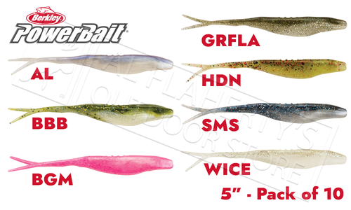 "Berkley PowerBait Power Jerk Shad, 5"" Pack of 10, Various Patterns #PBBJS5"