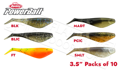 "Berkley PowerBait Pro Shad, Various Patterns, 3.5"" Pack of 10 #PBBPSS3.5"