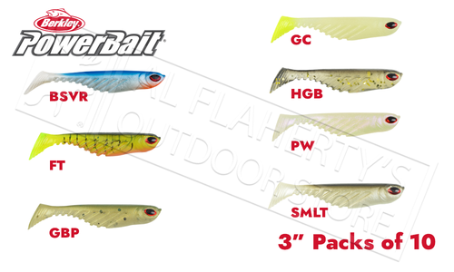 "Berkley PowerBait Ripple Shad, Various Patterns, 3"" Pack of 10 #PBBRS3"