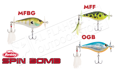 Berkley Spin Bomb Floating Bait, Various Patterns, 60mm 0.4 oz. #BHBSB60