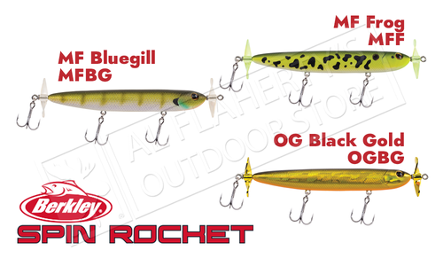 Berkley Spin Rocket 110 Topwater Bait, Various Patterns #BHBSR110