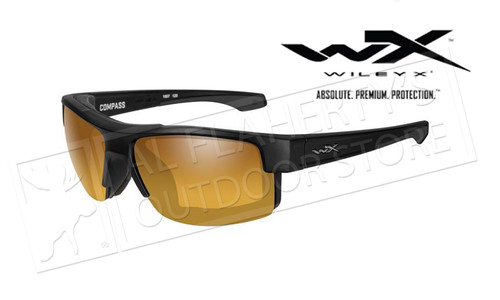 Wiley X Compass Polarized Venice Gold Mirror (Amber) Matte Black
