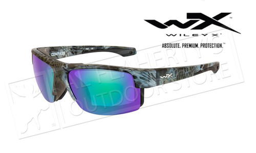 Wiley X Compass Polarized Emerald Mirror/Kryptek Neptune Frame