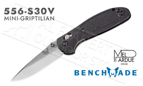Benchmade 556 Mini-Griptilian by Pardue Design, Plain Edge, Satin Finish #556-S30V