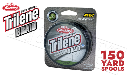 Berkley Trilene Braid - Professional Grade Low-Vis Green, 150 Yard Spools, 10, 15, 20 and 30 lb Test #TBFSxx22