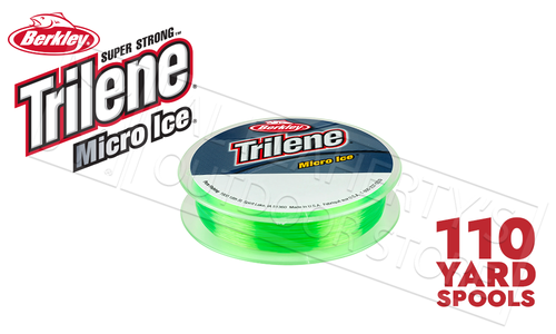 Berkley Trilene Micro Ice Fishing Line, Solar, 110 Yard Spool, 4 - 8 lbs., #MIPSx-81