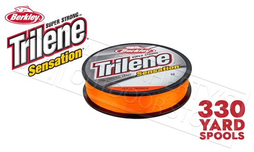 Berkley Trilene Sensation Blaze Orange, 330yd Spools #SNFSNX-80