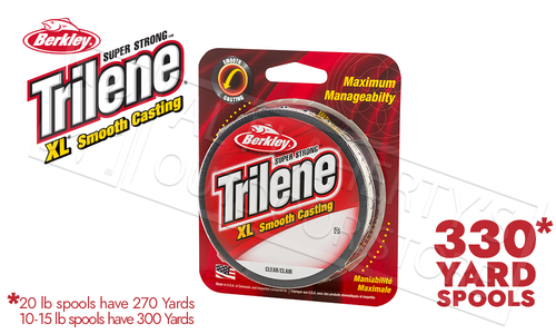 Berkley Trilene XL Smooth Casting Filler Spools, Clear #XLFS