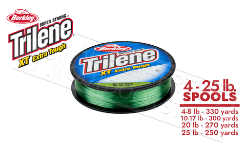 Berkley Trilene XT Xtra Tough, Low-Vis Green, 330 Yards, 4 to 25 Lb. Test #XTFSxx22