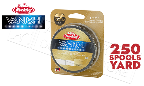 Berkley Vanish Transition Fluorocarbon Filler Spools, Clear Gold #VNTFSx-CG